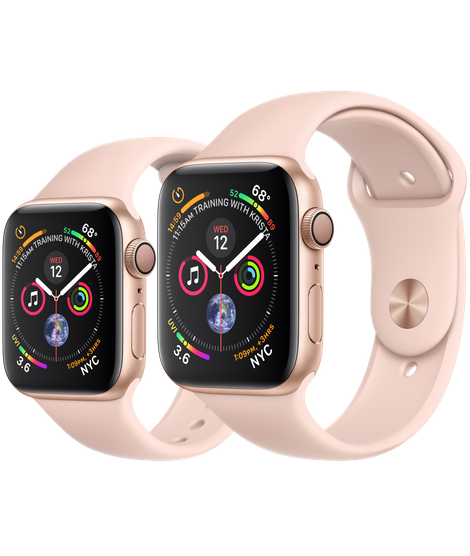 Apple Watch Series 4 Gold Aluminum Case With Pink Sand Sport Band (GPS)