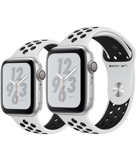 Apple Watch Series 4 Silver Aluminum Case With Pure Platinum/Black Nike Sport Band (GPS)