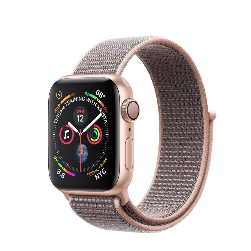 Apple Watch Series 4 Gold Aluminum Case With Pink Sand Sport Loop (GPS)