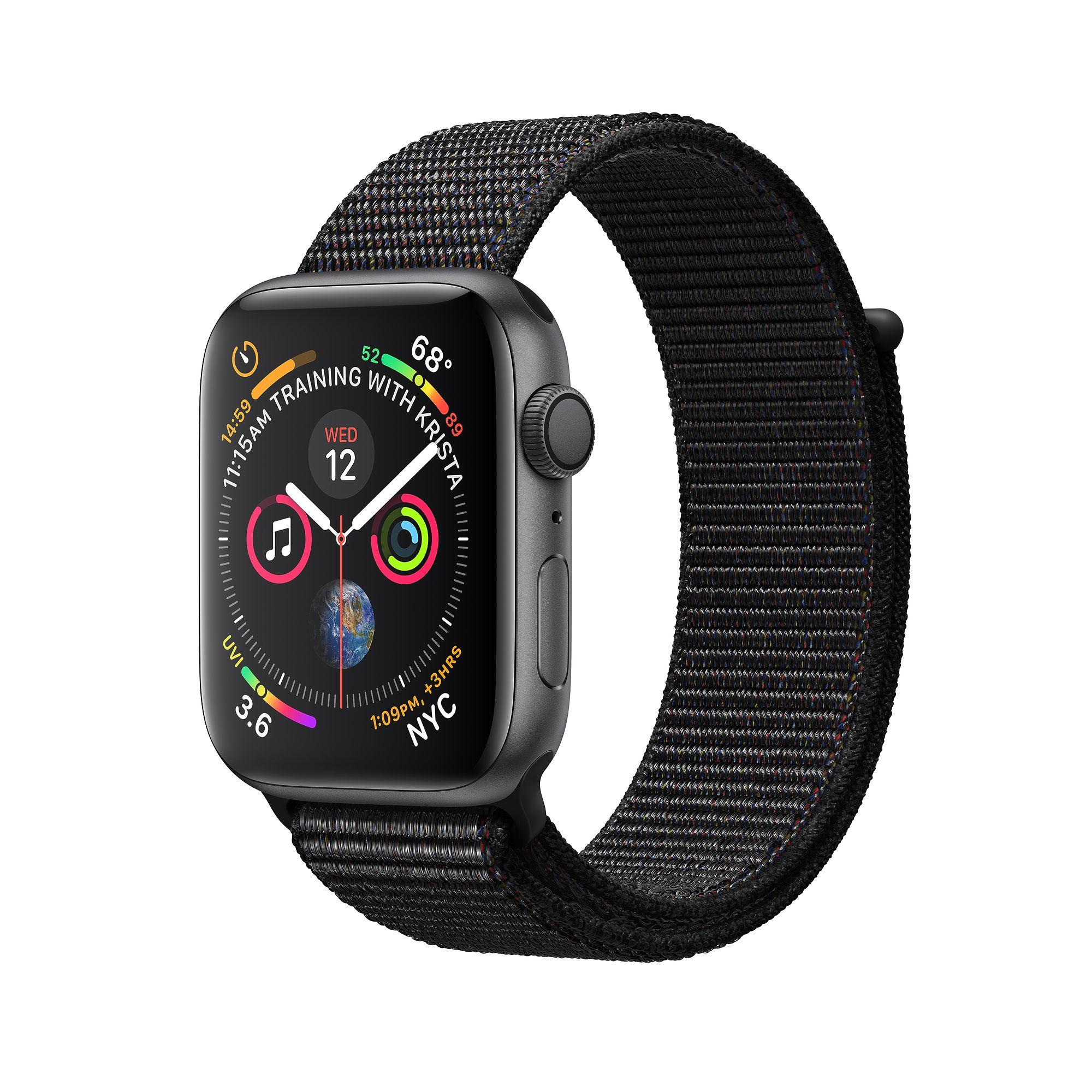 Apple Watch Series 4 Space Gray Aluminum Case With Black Sport Loop (GPS)