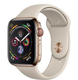 Apple Watch Series 4, Gold Stainless Steel - Stone Sport Band