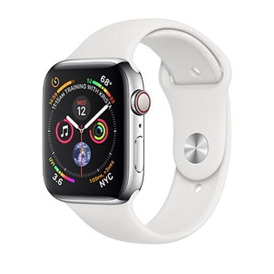 Apple Watch Series 4  Stainless Steel - White Sport Band