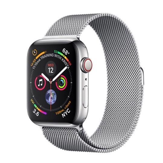 Apple Watch Series 4, Stainless Steel - Milanese Loop