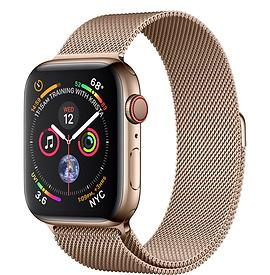 Apple Watch Series 4, Gold Stainless Steel - Gold Milanese Loop