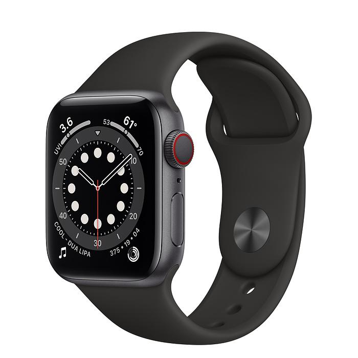 Apple Watch Series 6 Space Gray Aluminum Case with Sport Band (LTE)