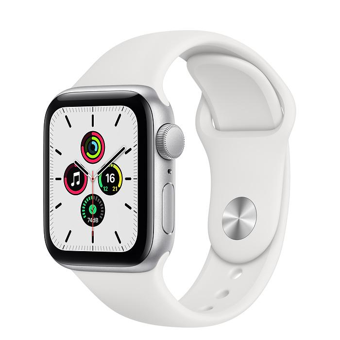 Apple Watch SE Silver Aluminum Case with Sport Band (GPS)