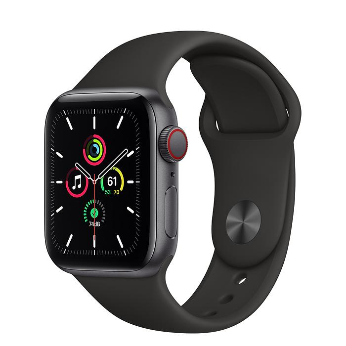 Apple Watch SE Space Gray Aluminum Case with Sport Band (LTE)