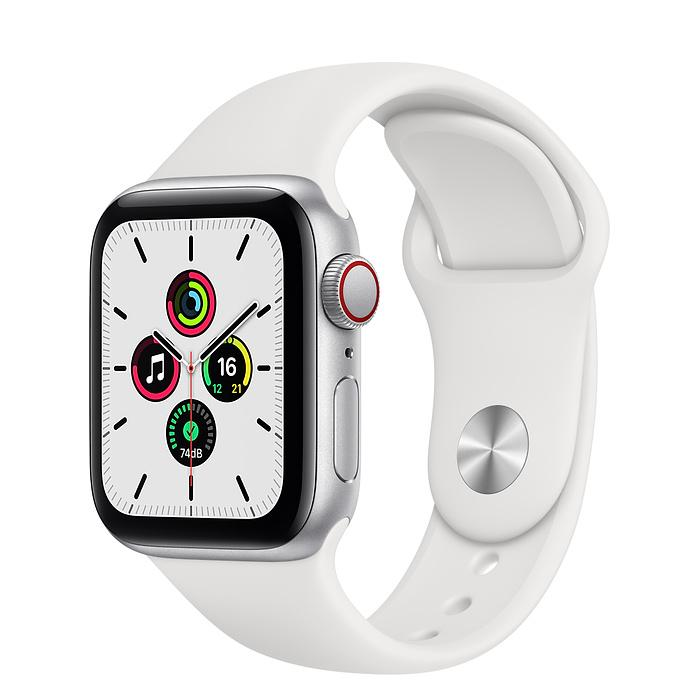 Apple Watch SE Silver Aluminum Case with Sport Band (LTE)