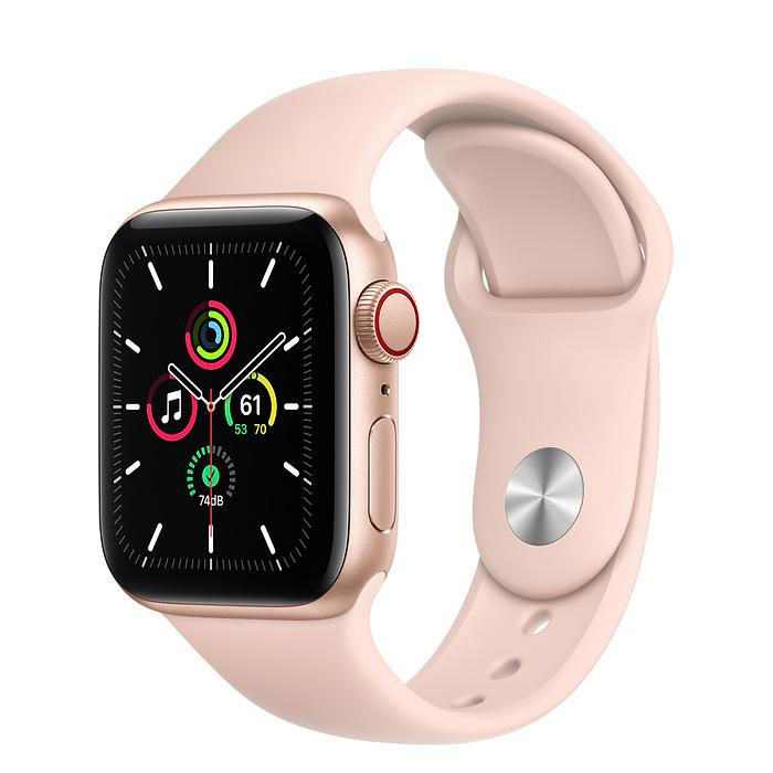 Apple Watch SE Gold Aluminum Case with Sport Band (LTE)
