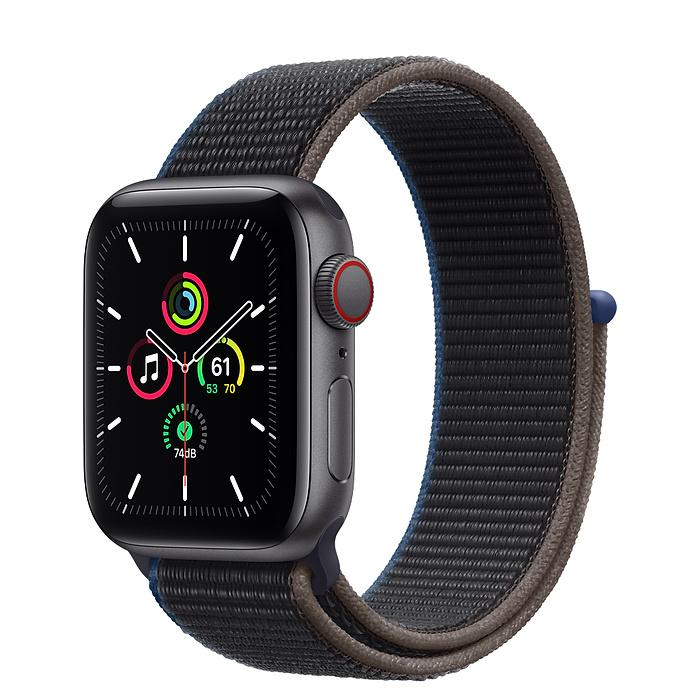 Apple Watch SE Space Gray Aluminum Case with Sport Loop (LTE)