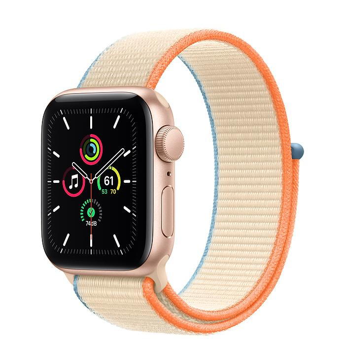 Apple Watch SE Gold Aluminum Case with Sport Loop (LTE)